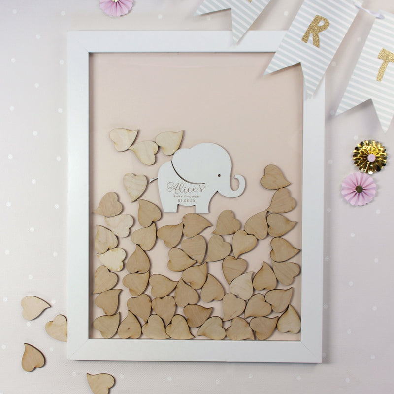 Baby Giraffe Animal theme | Personalised  Baby Shower Guest book Drop box