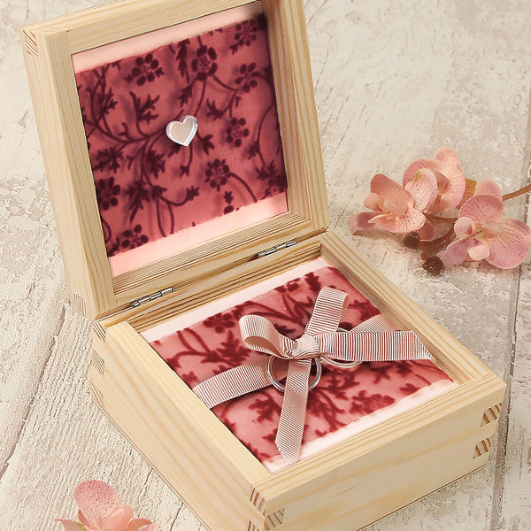 Calligraphy Wooden Wedding Ring Box design 5