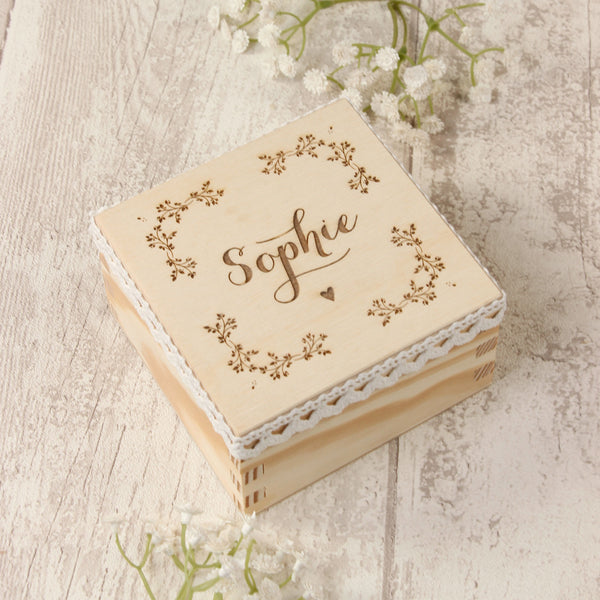 """Will you be my Maid of Honour ? "" Gift Wooden Box design 8"