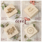 Rustic Floral Wooden Wedding Ring Box design 6