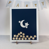 Moon and Stars,  Twinkle Twinkle Little Star | Personalised  Baby Shower Guest book Drop box