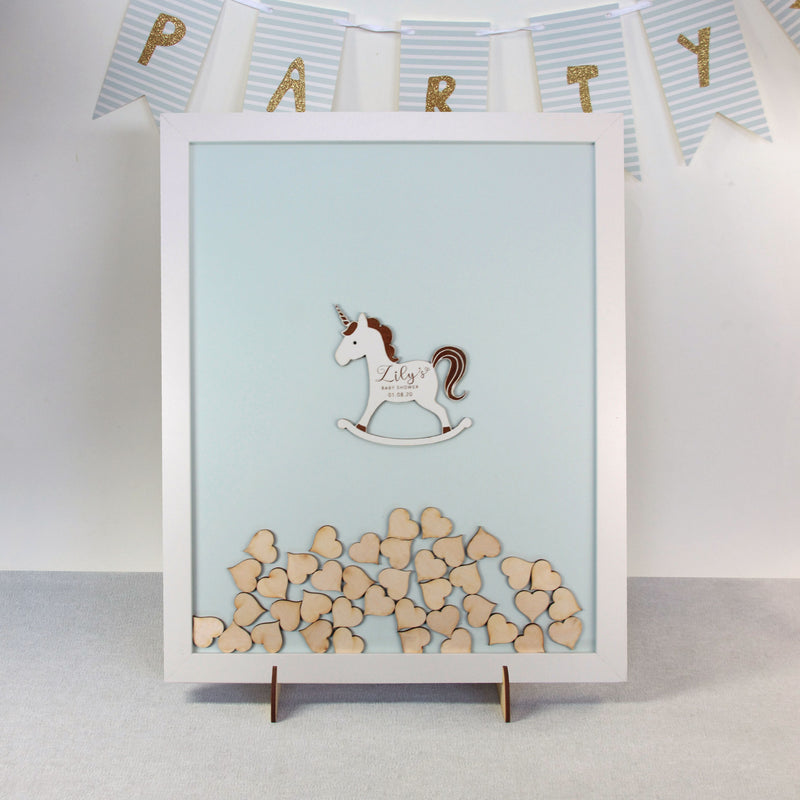 Puppy Doggy little Patch Dog  |  Personalised Guest book Drop box Baby Shower