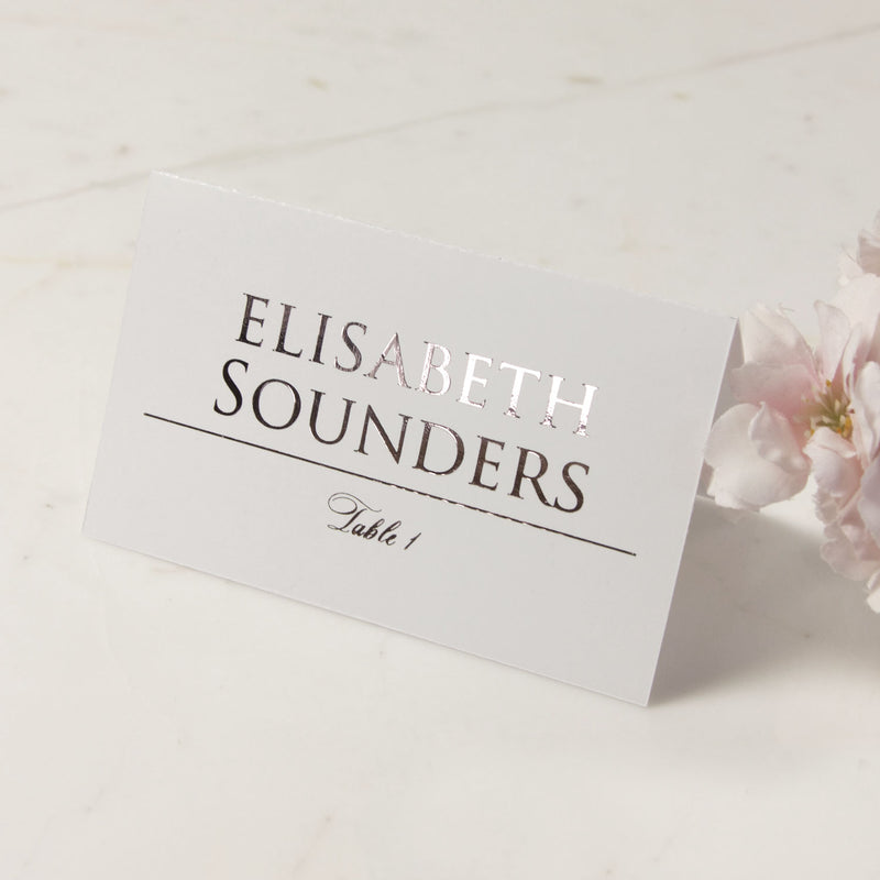 Personalised with foil place cards