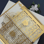 Gold Luxury Your Own Venue Ornamental Gate Laser Cut Gate