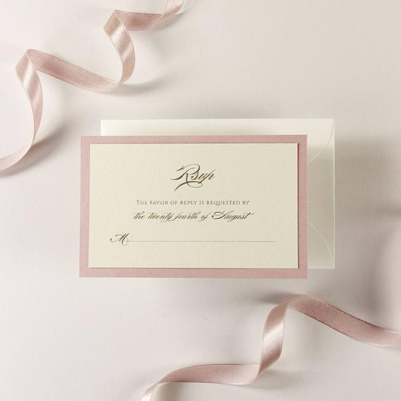 Vintage Rose RSVP / SAVE THE DATE / Extra Card with Envelope