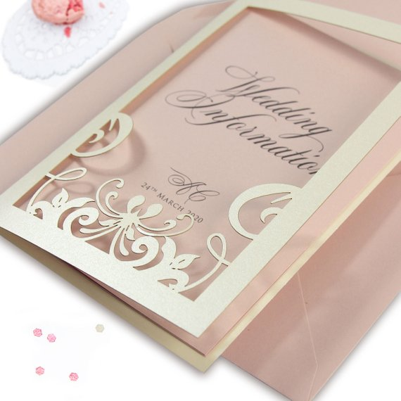She Said Yes in Paris Pink Opal Evening invitation Suite