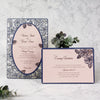 Romantic Roses Laser Cut Wedding Evening Invitation