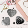 Save the Date Magnet in Rose Gold Heart Foil Mirror with card