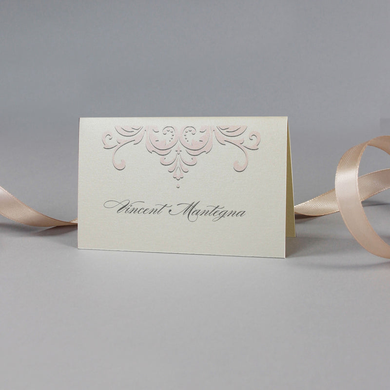 Champagne Decorative Lace Place Card