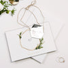 Silver Mirror Plexi in Hexagon Save the Date Magnet with card and Gold String