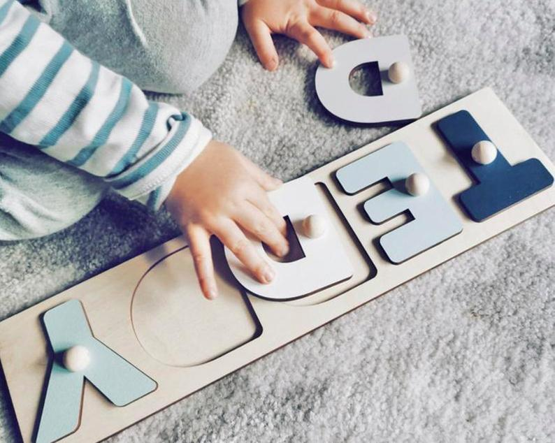 Puzzles Custom Wooden Name  | Nursery Decoration | Early Learning