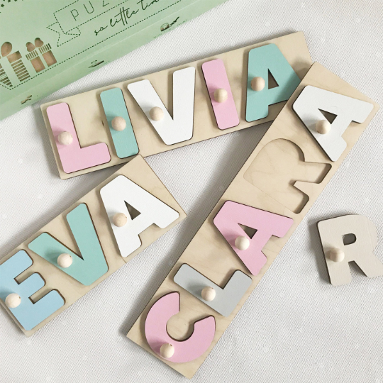 3D Name Puzzles With Pegs | Montessori Toys | Christmas Gift Idea