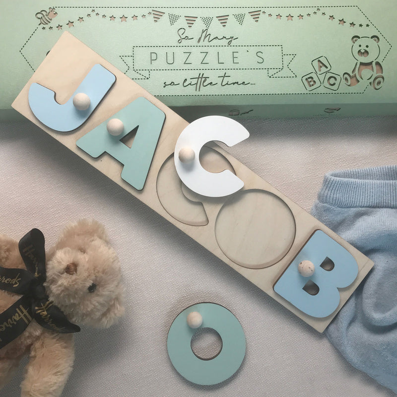 Unique Baby Name Puzzles  | Wooden Toys  | Letters Shape