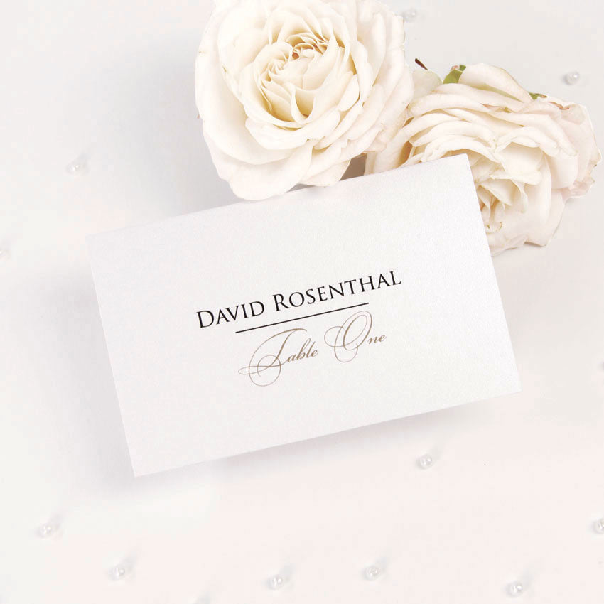 Elegant Romantic Script Place Card
