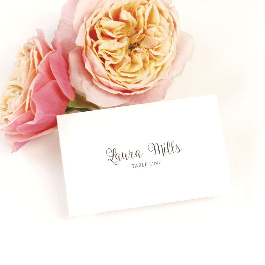 Romantic Calligraphy Place Card