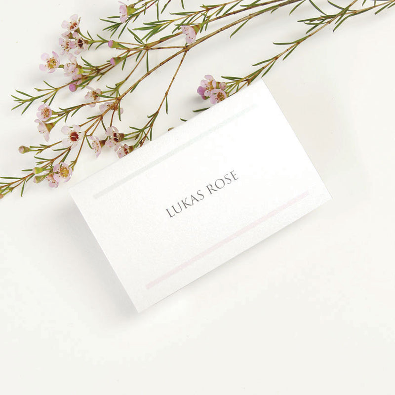 Sophisticated Modern Place Card