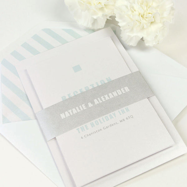 Modern Lux Wedding Invitation Set