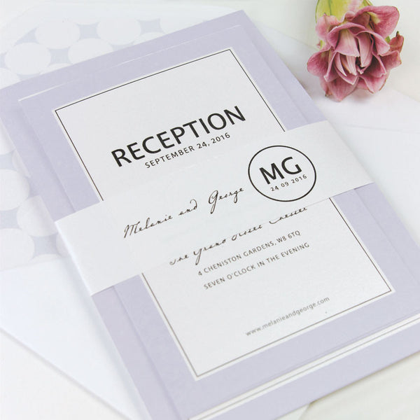 Circle Logo Modern Wedding Invitation Set