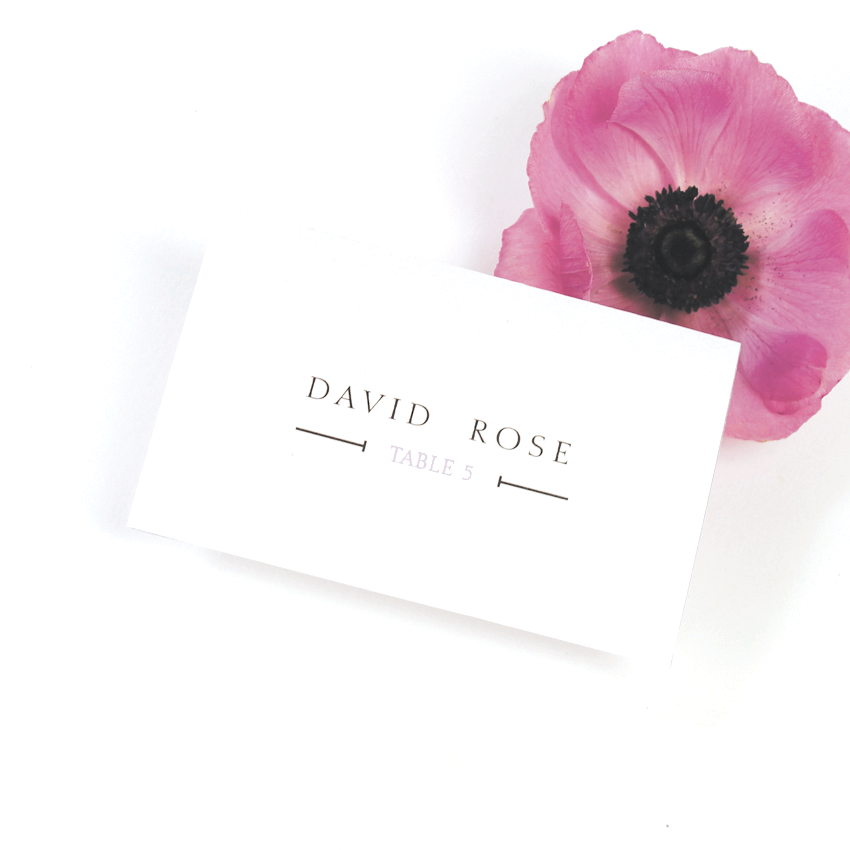 Urban Violet Glamour Place Card