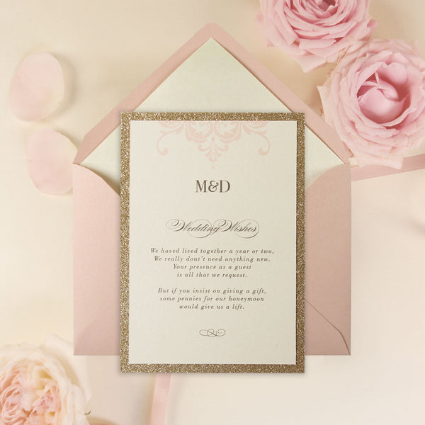 gold glitter wedding invitations pink opulence luxury gatefold invitation with gold 4534