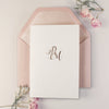 Simple Luxury Confetti Pocket fold Wedding Invitation Suite with 2 inserts + 2 Envelopes