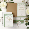 Olive Green Eco Kraft Watercolour Rustic Country Pocket Fold Suite