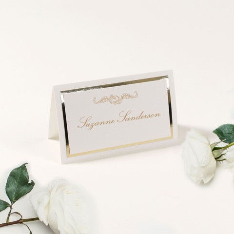 Luxury Gold Foil place card