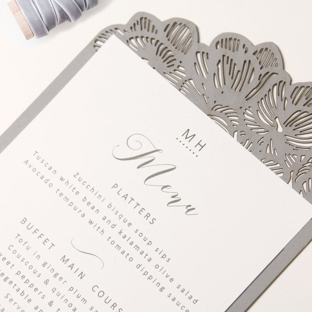 Grey Orchid Laser Cut  Menu