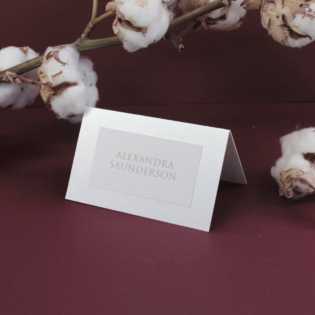 Pearl Foil Damask Boho Place card