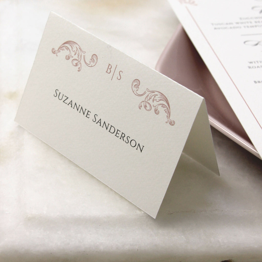 Regal Rose Gold matching place card