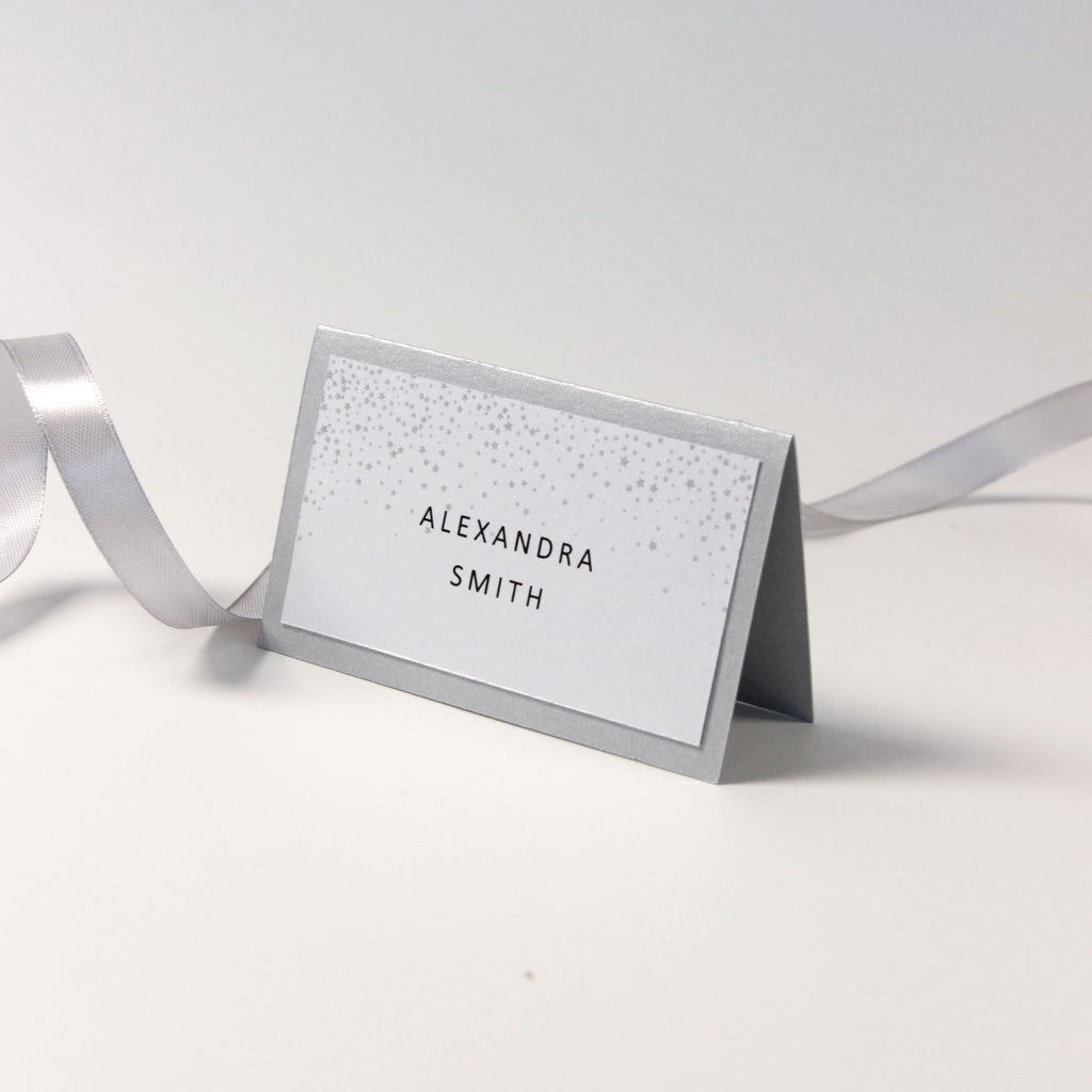 White Winter, Snowflake Place card