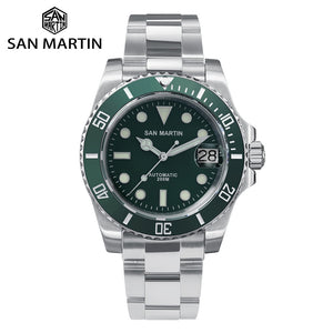 San Martin Retro Diver Watch with Ceramic Bezel.