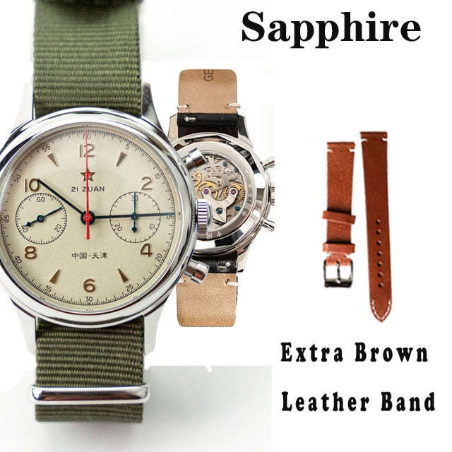 New Mens Sapphire Acrylic Business Watch.