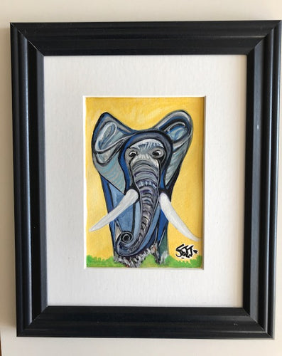 Watercolor Elephant Painting - Endurance-Uvumilivu