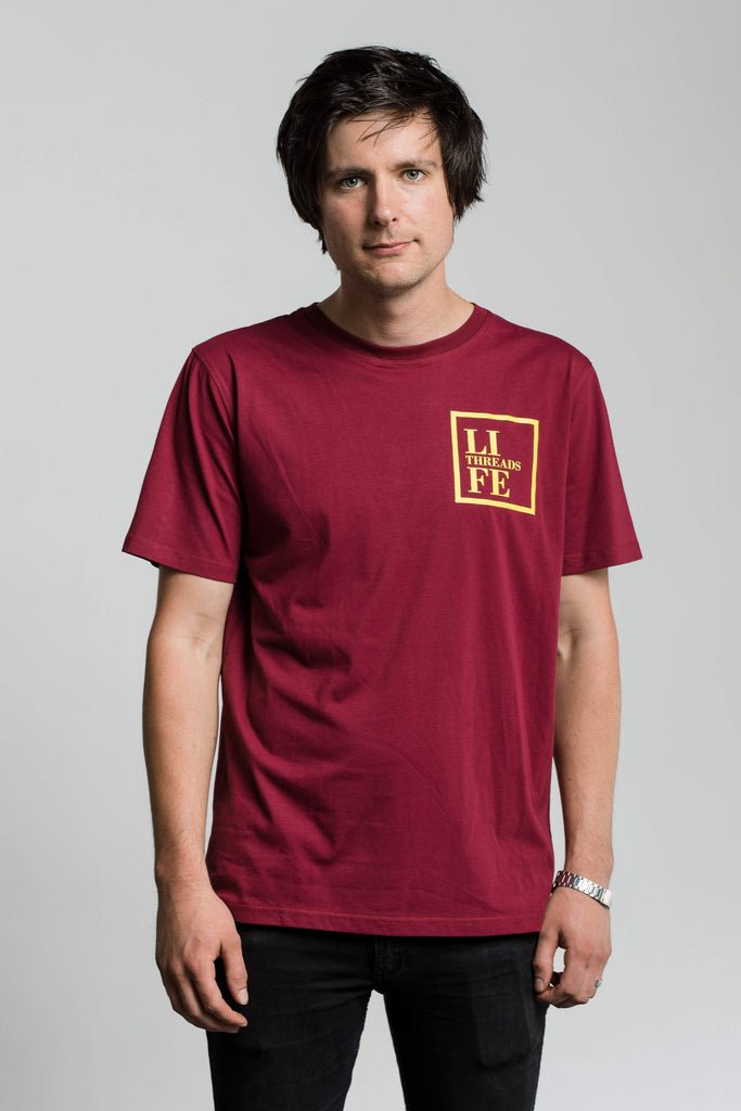 Square Badge Tee - Fairtrade & Organic T-Shirt - Fair Trade Clothing by Life Threads