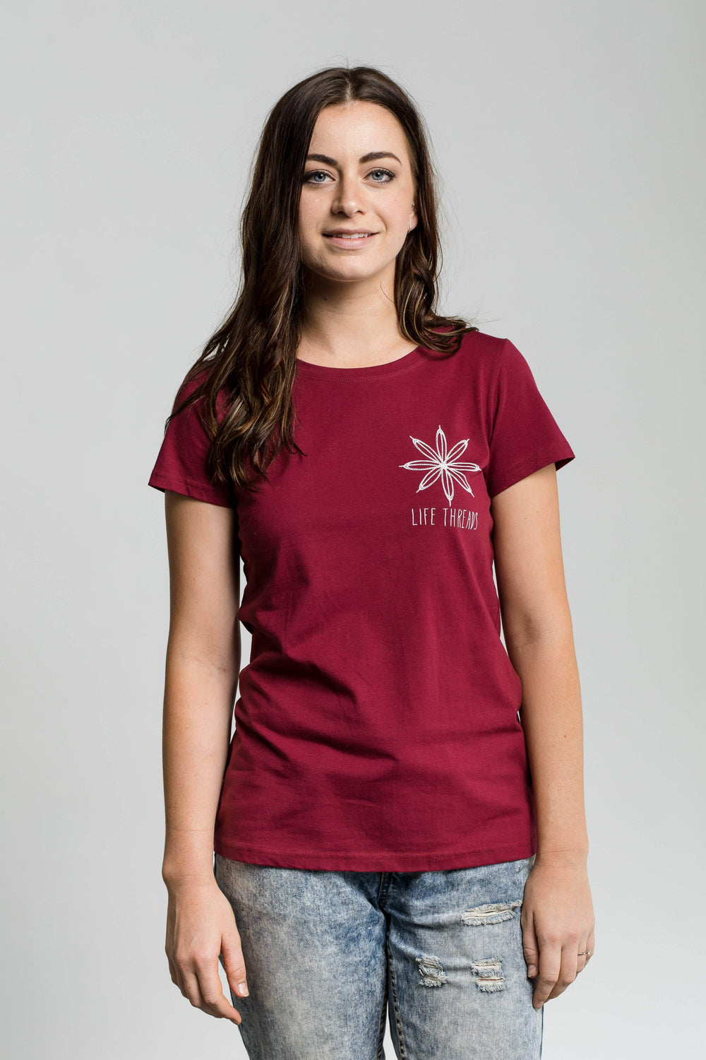 Flower - Fairtrade & Organic T-Shirt-Fair Trade Clothing by Life Threads