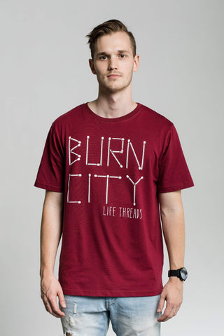 Burn City - Fairtrade & Organic T-Shirt-Fair Trade Clothing by Life Threads