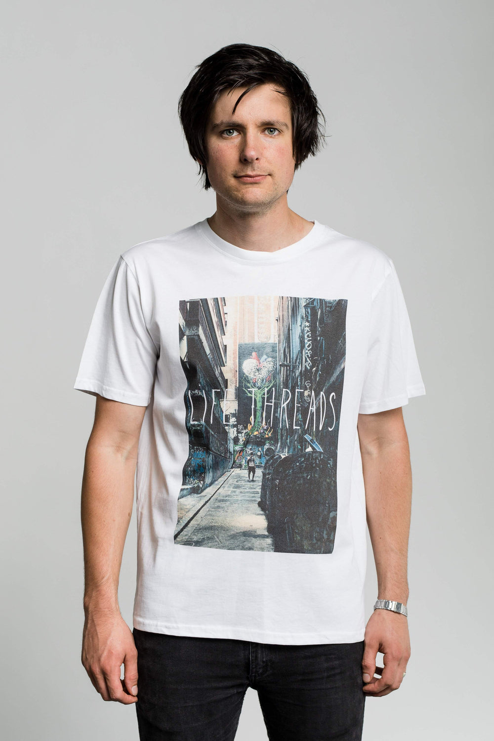 Alley - Fairtrade & Organic Men's T-Shirt - Fair Trade Clothing by Life Threads
