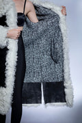 Giamor Design Shaggy Contrast Luxury Coat