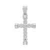 925 Sterling Silver Cubic Zirconia Set Cross Pendant - jewellerysavers