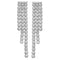 925 Sterling Silver Cubic Zirconia Drop  Earrings - jewellerysavers