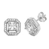 925 Sterling Silver Square CZ Stud Earrings - jewellerysavers