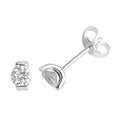 925 Sterling Silver Round Cubic Zirconia Stud Earrings - jewellerysavers