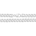 925 Sterling Silver Heavy Gent's Curb Chain - jewellerysavers