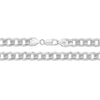 925 Sterling Silver Heavy Gent's Curb Pave Chain - jewellerysavers