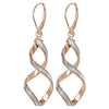 9ct Rose Gold Ladies Drop Earrings - jewellerysavers