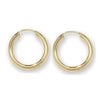9ct Yellow Gold Classic Round Sleeper Earrings - jewellerysavers