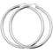 925 Sterling Silver Plain Round Hoop Earrings - jewellerysavers