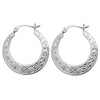925 Sterling Silver Traditional Creole Hoop Earrings - jewellerysavers