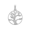 925 Sterling SilverTree of Life Cubic Zirconia Pendant - jewellerysavers